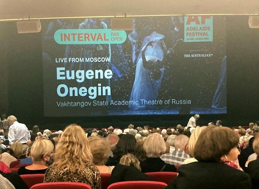 Компания «Синтерра Медиа» провела необычную трансляцию спектакля «Евгений Онегин» для участников Аделаидского фестиваля